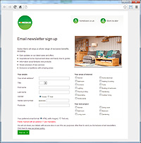 Homebase Email Sign Up Form