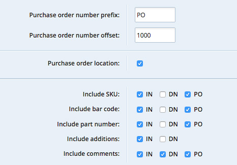 Purchase Order Configuration