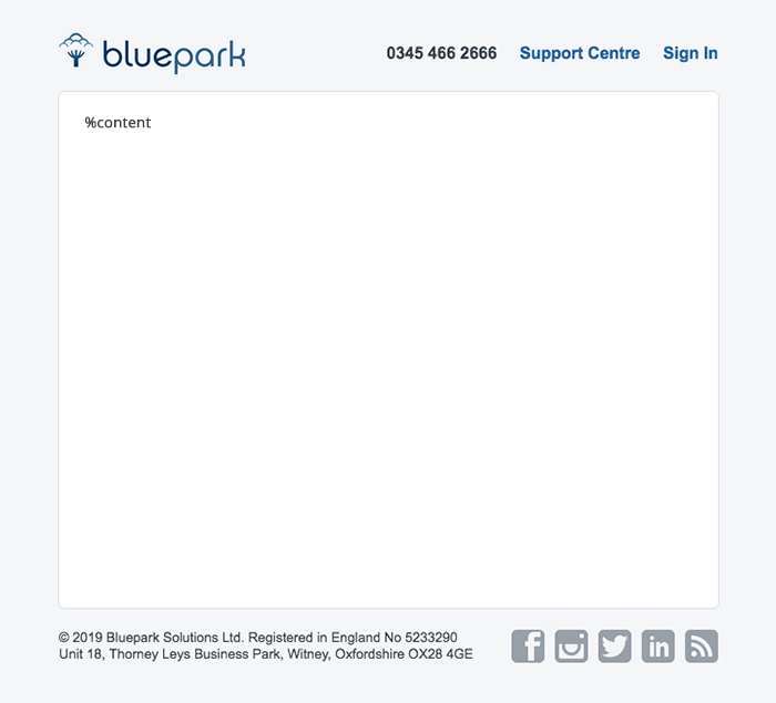 Bluepark Email Wrapper