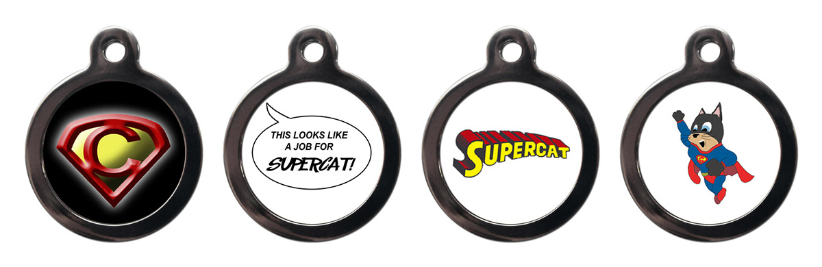 Cool Cat Collars - Supercat tags