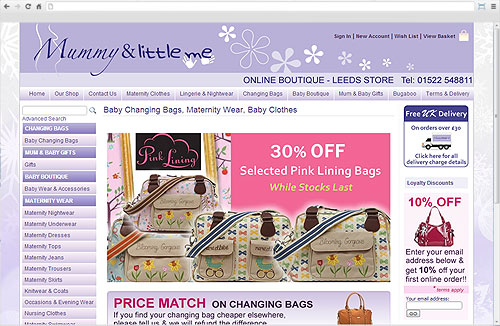 Zigzag Website - Mummy and Little Me