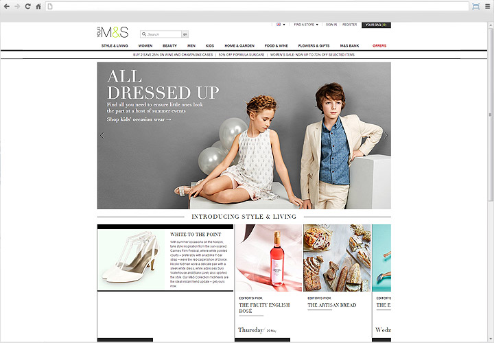 Marks and Spencer Desktop