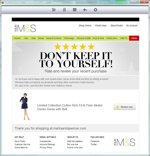 Marks and Specner reviews email