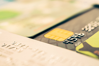 Store credit/debit cards