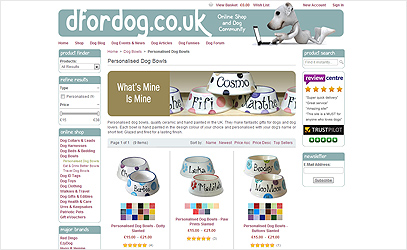 Personalised Dog Bowls at D for Dog