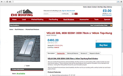 Evo Roofing Velux pitched roof window