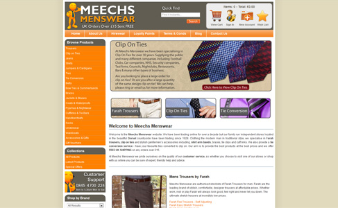 Meechs Menswear at www.meechs.co.uk