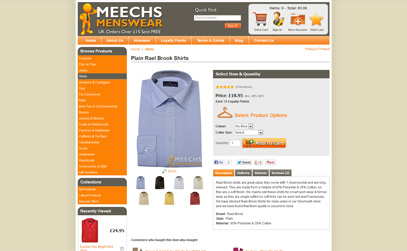 Plain Rael Brook Shirts at Meechs Menswear