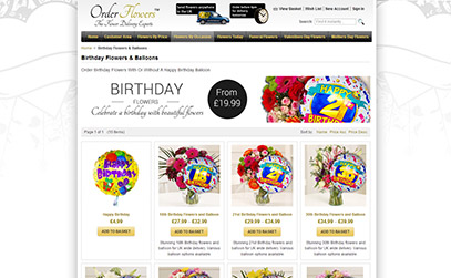 Birthday Flowers & Balloons at Order Flowers