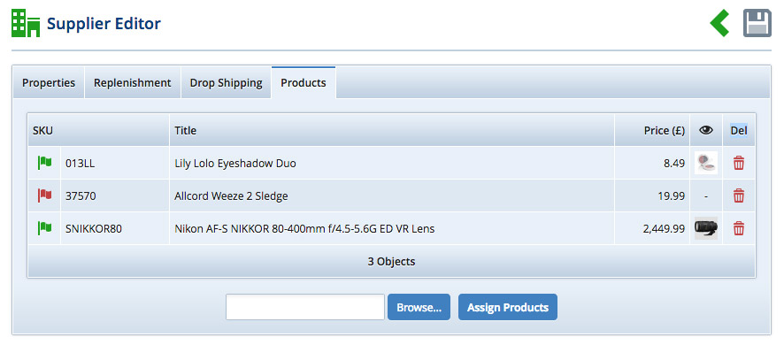 Add Products via the Supplier Editor