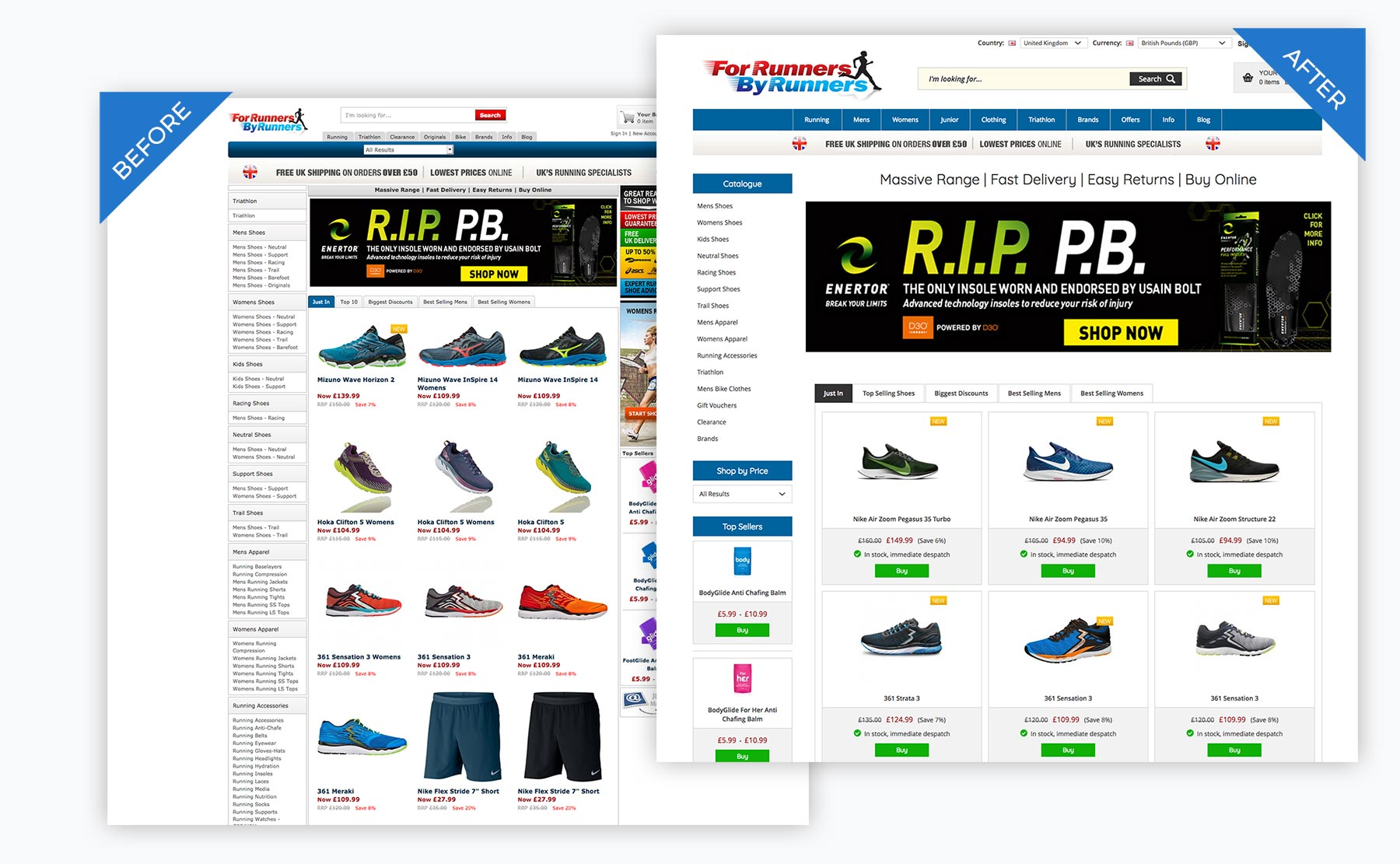 For Runners By Runners Template Switch