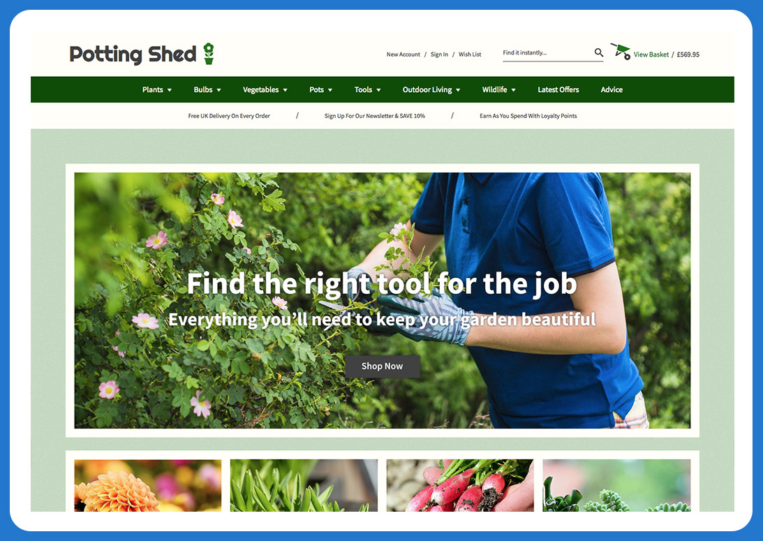 Potting Shed Template