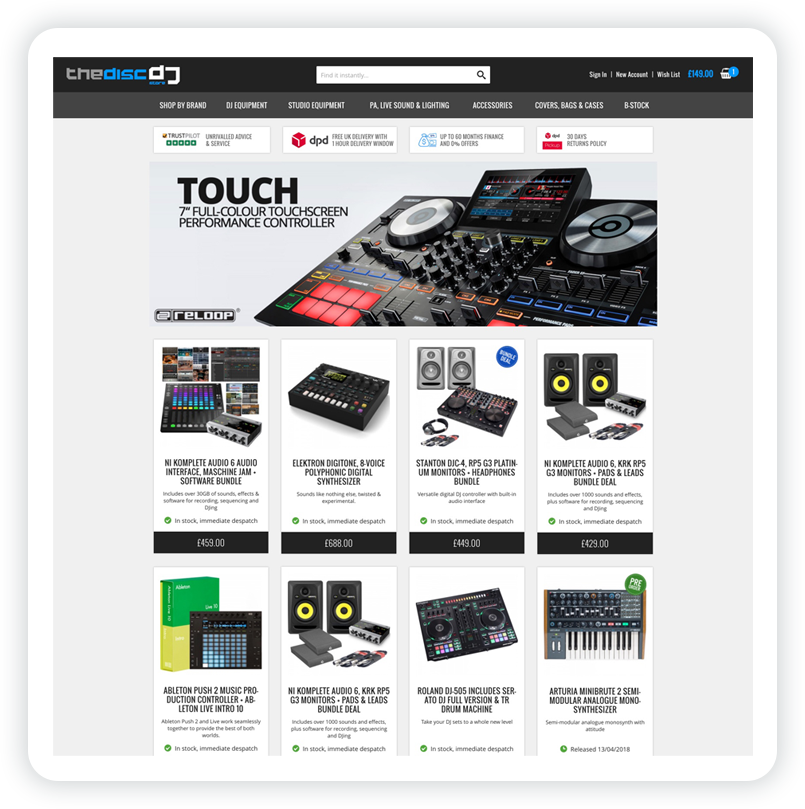 thediscdjstore website template